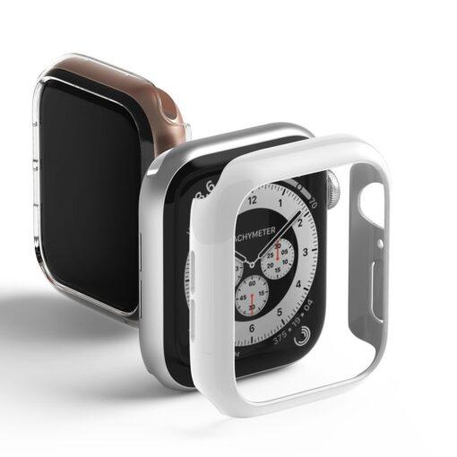 Apple Watch umbris Ringke Slim 2tk Watch 6 44mm Watch 5 44mm Watch 4 44mm Watch SE 44mm labipaistev valge 10