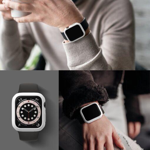 Apple Watch umbris Ringke Slim 2tk Watch 6 44mm Watch 5 44mm Watch 4 44mm Watch SE 44mm labipaistev valge 11