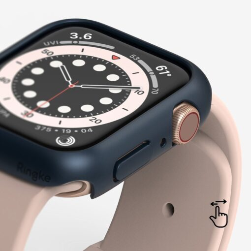 Apple Watch umbris Ringke Slim 2tk Watch 6 44mm Watch 5 44mm Watch 4 44mm Watch SE 44mm labipaistev valge 2