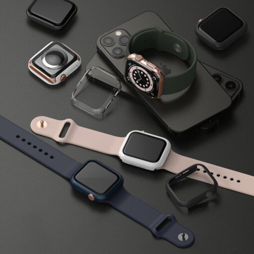 Apple Watch umbris Ringke Slim 2tk Watch 6 44mm Watch 5 44mm Watch 4 44mm Watch SE 44mm labipaistev valge 3