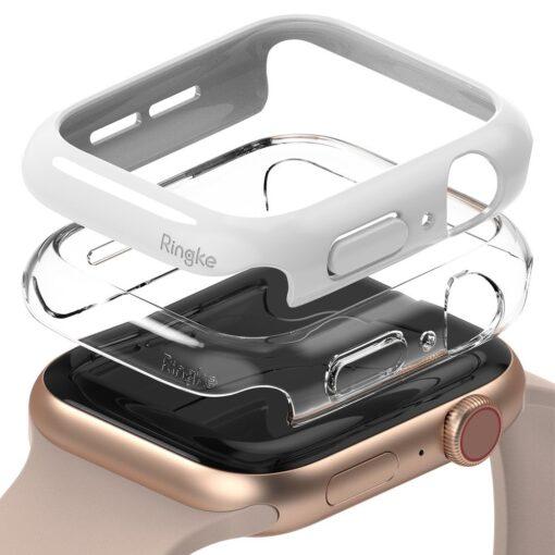 Apple Watch umbris Ringke Slim 2tk Watch 6 44mm Watch 5 44mm Watch 4 44mm Watch SE 44mm labipaistev valge