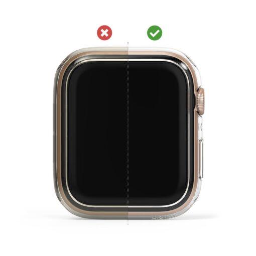 Apple Watch umbris Ringke Slim 2tk Watch 6 44mm Watch 5 44mm Watch 4 44mm Watch SE 44mm labipaistev valge 7