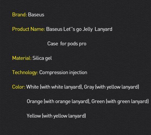 Baseus Lets Go AirPods Pro silikoonist umbris oranz 17