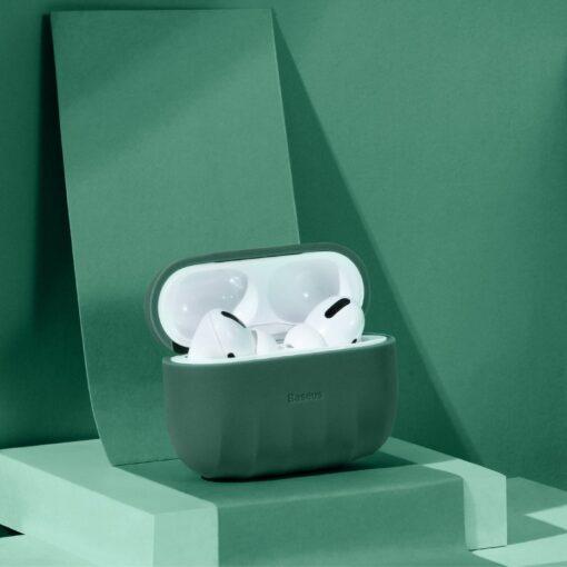 Baseus Shell Airpods Pro silikoonist umbris roheline 13