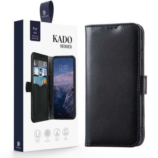 Huawei P30 Lite kaarditaskuga kaaned must 2