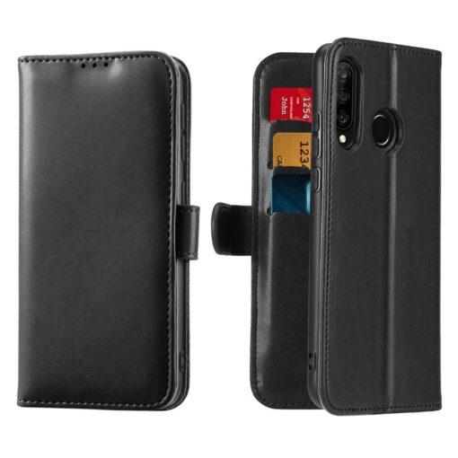 Huawei P30 Lite kaarditaskuga kaaned must