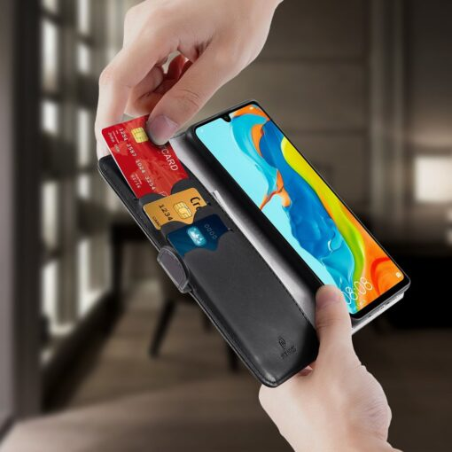 Huawei P30 Lite kaarditaskuga kaaned must 9