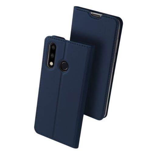 Huawei P30 Lite kunstnahast kaaned DUX DUCIS Skin Pro Bookcase sinine 1