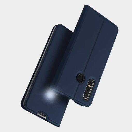 Huawei P30 Lite kunstnahast kaaned DUX DUCIS Skin Pro Bookcase sinine 15