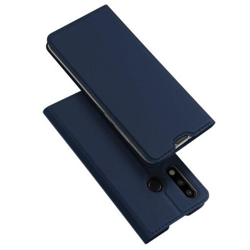 Huawei P30 Lite kunstnahast kaaned DUX DUCIS Skin Pro Bookcase sinine