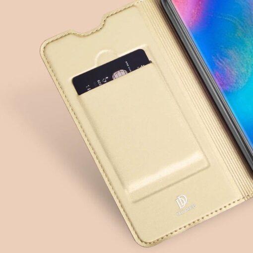 Huawei P30 Lite kunstnahast kaaned DUX DUCIS Skin Pro Bookcase sinine 8