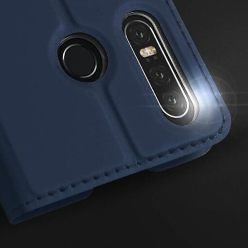 Huawei P30 Lite kunstnahast kaaned DUX DUCIS Skin Pro Bookcase sinine 9