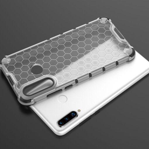 Huawei P30 Lite plastikust kargstruktuuri ja silikoonist raamiga umbris sinine 7
