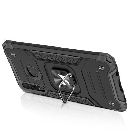 Huawei P30 Lite tugev umbris Ring Armor plastikust taguse ja silikoonist nurkadega must 3