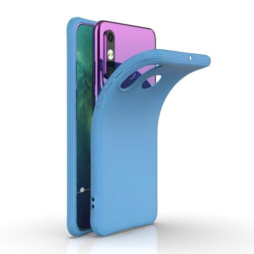 Huawei P30 Lite tugevdatud nurkadega silikoonist umbris sinine 1