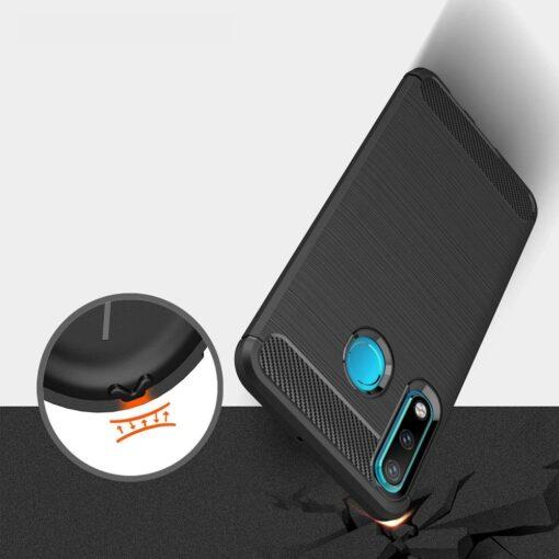 Huawei P30 Lite umbris silikoonist Carbon must 4