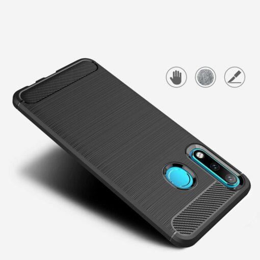 Huawei P30 Lite umbris silikoonist Carbon must 5