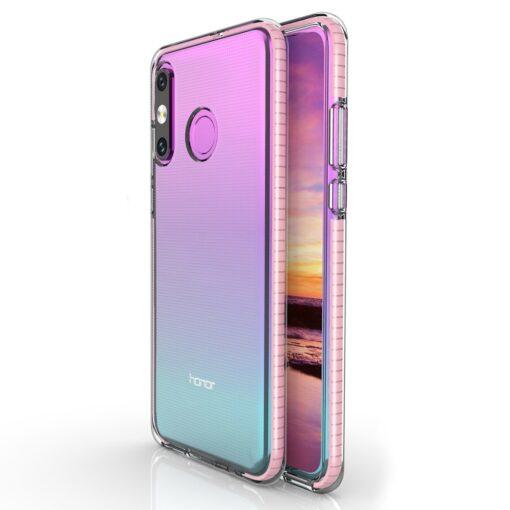 Huawei P30 Lite umbris silikoonist varvilise raamiga roosa