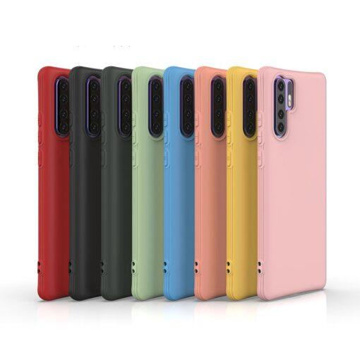 Huawei P30 Pro tugevdatud nurkadega silikoonist umbris roosa 5