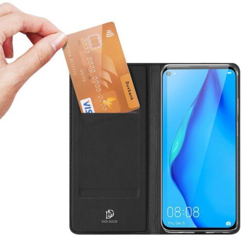 Huawei P40 Lite kunstnahast kaaned DUX DUCIS Skin Pro Bookcase must 1