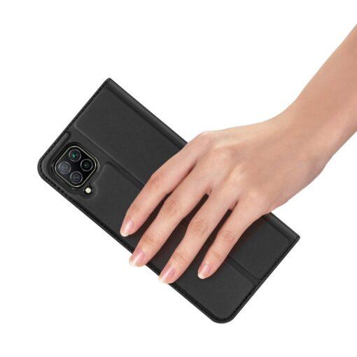 Huawei P40 Lite kunstnahast kaaned DUX DUCIS Skin Pro Bookcase must 6