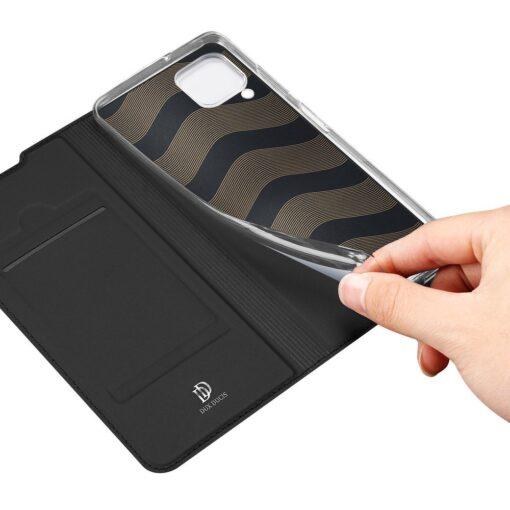 Huawei P40 Lite kunstnahast kaaned DUX DUCIS Skin Pro Bookcase must 7