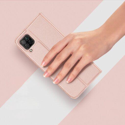 Huawei P40 Lite kunstnahast kaaned DUX DUCIS Skin Pro Bookcase roosa 11