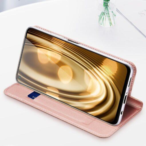 Huawei P40 Lite kunstnahast kaaned DUX DUCIS Skin Pro Bookcase roosa 17