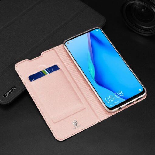 Huawei P40 Lite kunstnahast kaaned DUX DUCIS Skin Pro Bookcase roosa 21