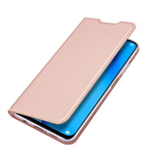 Huawei P40 Lite kunstnahast kaaned DUX DUCIS Skin Pro Bookcase roosa 4