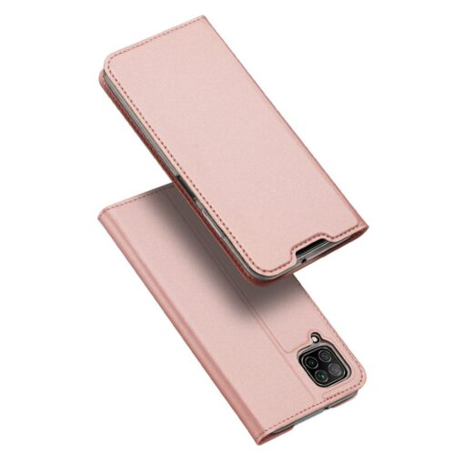Huawei P40 Lite kunstnahast kaaned DUX DUCIS Skin Pro Bookcase roosa