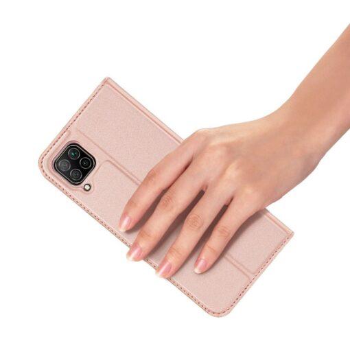 Huawei P40 Lite kunstnahast kaaned DUX DUCIS Skin Pro Bookcase roosa 6