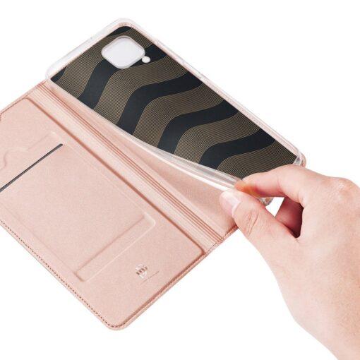 Huawei P40 Lite kunstnahast kaaned DUX DUCIS Skin Pro Bookcase roosa 7