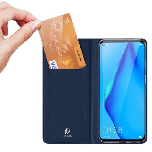 Huawei P40 Lite kunstnahast kaaned DUX DUCIS Skin Pro Bookcase sinine 1