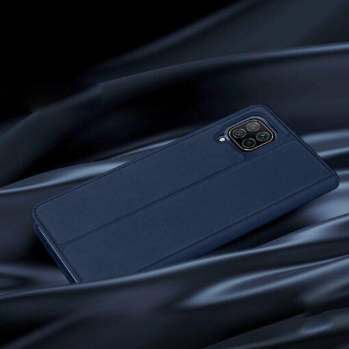 Huawei P40 Lite kunstnahast kaaned DUX DUCIS Skin Pro Bookcase sinine 10
