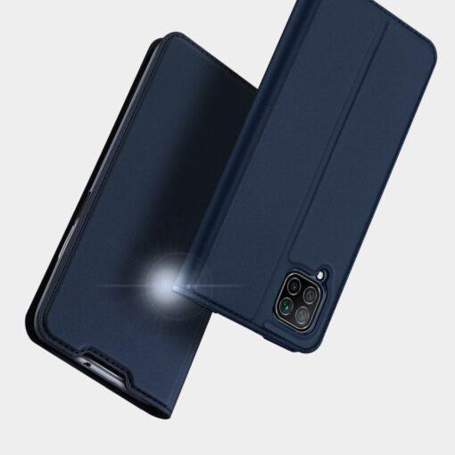 Huawei P40 Lite kunstnahast kaaned DUX DUCIS Skin Pro Bookcase sinine 13