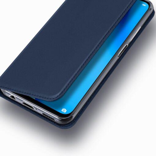 Huawei P40 Lite kunstnahast kaaned DUX DUCIS Skin Pro Bookcase sinine 15