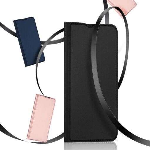 Huawei P40 Lite kunstnahast kaaned DUX DUCIS Skin Pro Bookcase sinine 17