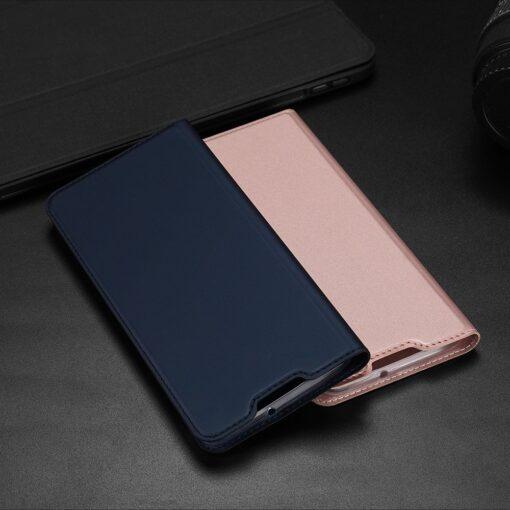 Huawei P40 Lite kunstnahast kaaned DUX DUCIS Skin Pro Bookcase sinine 18