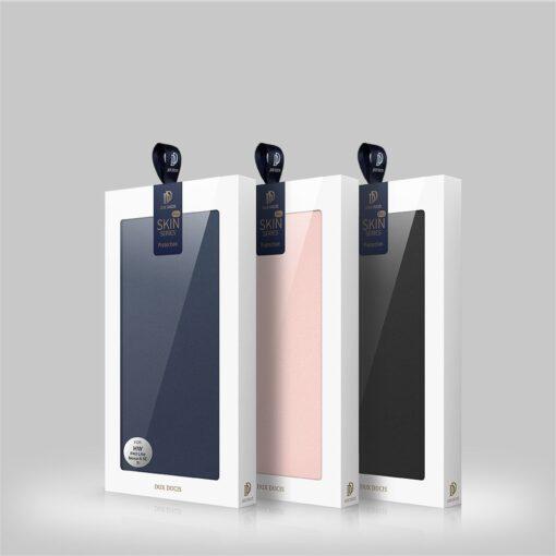 Huawei P40 Lite kunstnahast kaaned DUX DUCIS Skin Pro Bookcase sinine 22