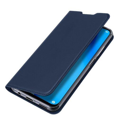 Huawei P40 Lite kunstnahast kaaned DUX DUCIS Skin Pro Bookcase sinine 3