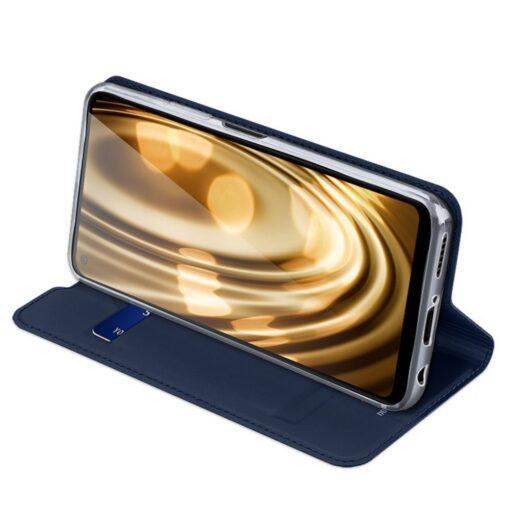 Huawei P40 Lite kunstnahast kaaned DUX DUCIS Skin Pro Bookcase sinine 4