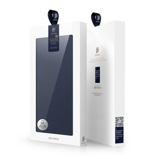 Huawei P40 Lite kunstnahast kaaned DUX DUCIS Skin Pro Bookcase sinine 5
