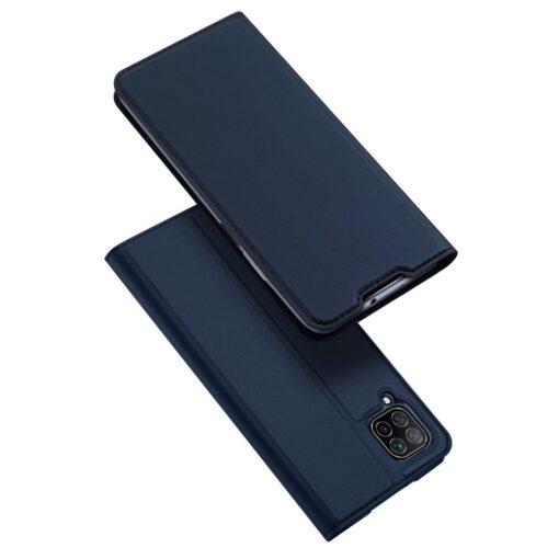 Huawei P40 Lite kunstnahast kaaned DUX DUCIS Skin Pro Bookcase sinine