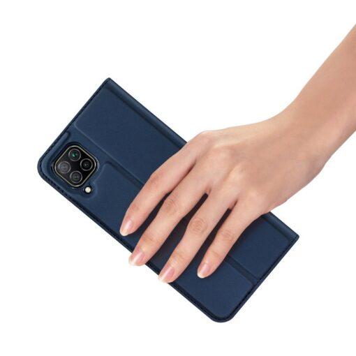 Huawei P40 Lite kunstnahast kaaned DUX DUCIS Skin Pro Bookcase sinine 6