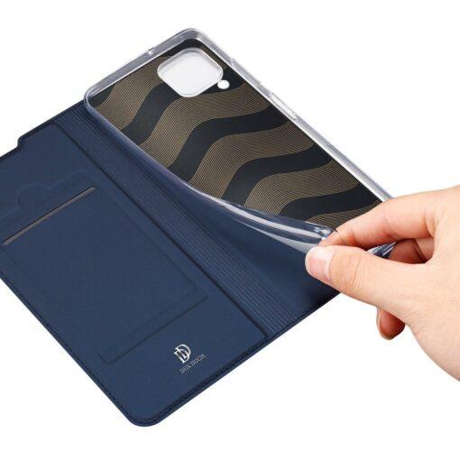 Huawei P40 Lite kunstnahast kaaned DUX DUCIS Skin Pro Bookcase sinine 7