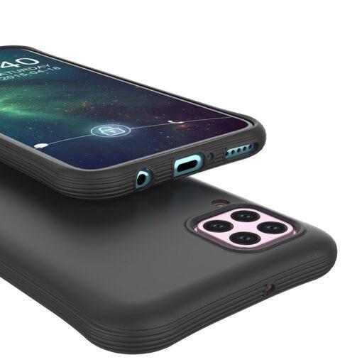 Huawei P40 Lite tugevdatud nurkadega silikoonist umbris must 4