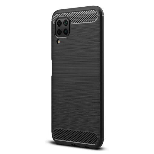 Huawei P40 Lite umbris silikoonist Carbon must 1