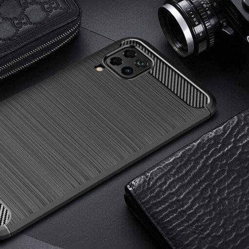 Huawei P40 Lite umbris silikoonist Carbon must 2