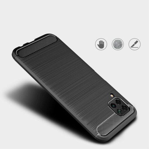 Huawei P40 Lite umbris silikoonist Carbon must 3